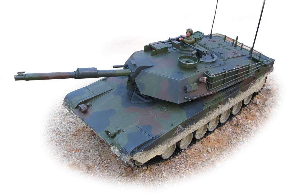 Carson / Hobby Engine Abrams M1 1:16 Forest RC Panzer PRO MODELL