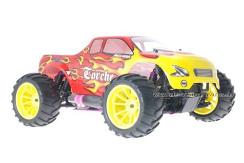 Himoto 1:10 Nitro Truck Red Flames