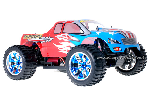 Himoto Brushless Truck American Flag Red 2.4GHz