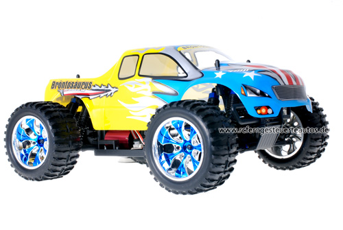 Himoto Brushless Truck American Flag Yellow 2.4GHz