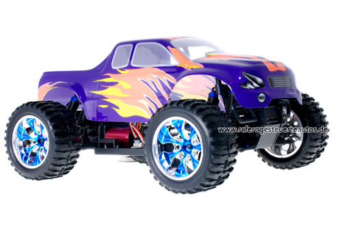 Himoto Brushless Truck Blue Orange 2.4GHz