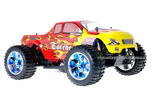 Himoto Brushless Truck Red Flames 2.4GHz