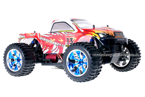 Himoto Brushless Truck Silver Red 2.4GHz