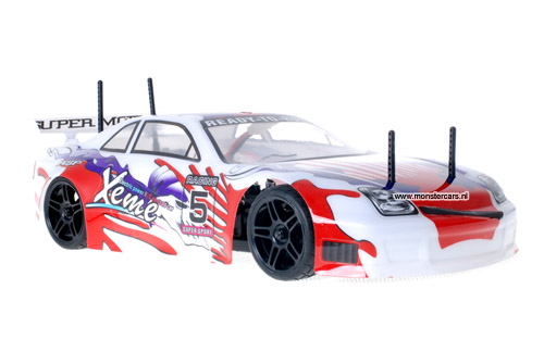 Himoto 1:10 Nascada White Red RC Auto