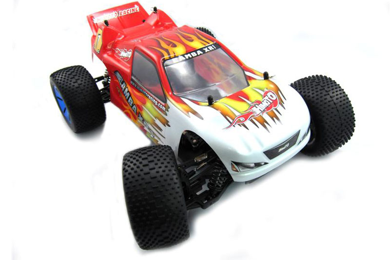 Himoto 1:10 Truggy White Red