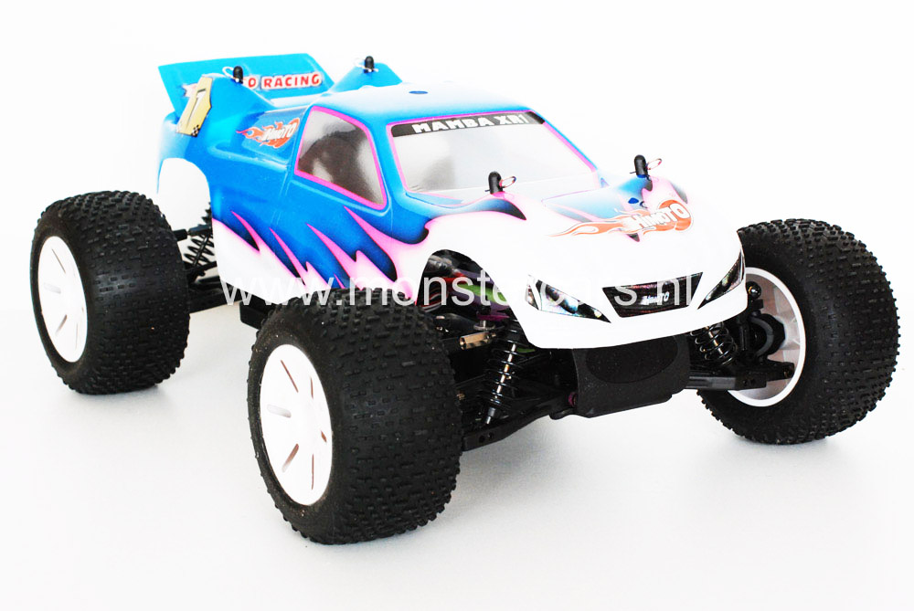 Himoto 1:10 Truggy White Blue